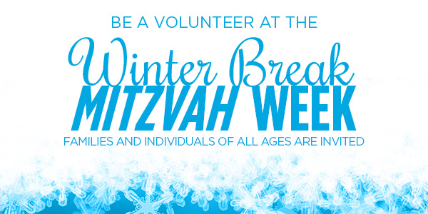 Volunteer During Mitzvah Week