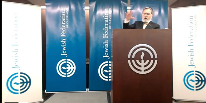 Rabbi Lord Jonathan Sacks in Cleveland